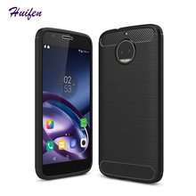 For Moto G5S Plus Case Soft Silicone Brushed Carbon Fiber Texture Armor Back Case For Motorola Moto G6 Plus Armor Cover (X828)(China)