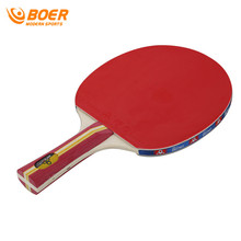 BOER 2017 1pc Start Training Sport Table Tennis Rackets Double Face Ping Pong Paddle Short/Long Handle Rackets Wholesale(China)