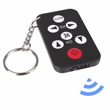 Mini Universal Infrared IR TV Set Remote Control Keychain Key Ring 7 Keys(China)