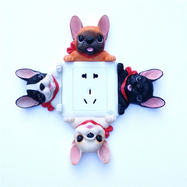 French Bulldog cute puppy dogs resin switch stickers fridge magnets - 18