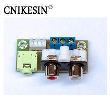 CNIKESIN Audio input / output Transfer Connection Lead Plate Rca 3.5mm Plug Socket PCB Connection Terminal (finished product)