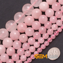 "Round And Smooth Rose Quartzs Seed Beads,Natural Rose Quart Stone Beads DIY Beads For Bracelet Making Strand15"" Free Shipping(China)"