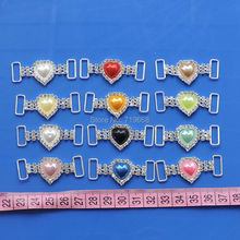 50pcs/lot Wedding Embellishment Invitation Buckle Crystal Swimming Bikini With Heart Pearl Connector Scrapbook and Napkin Ring