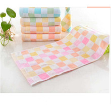 1PCS High Quality Cotton Baby Bath Wipe Face Towel Feeding Bib Small Square Washcloths 25*50cm New Arrival(China)