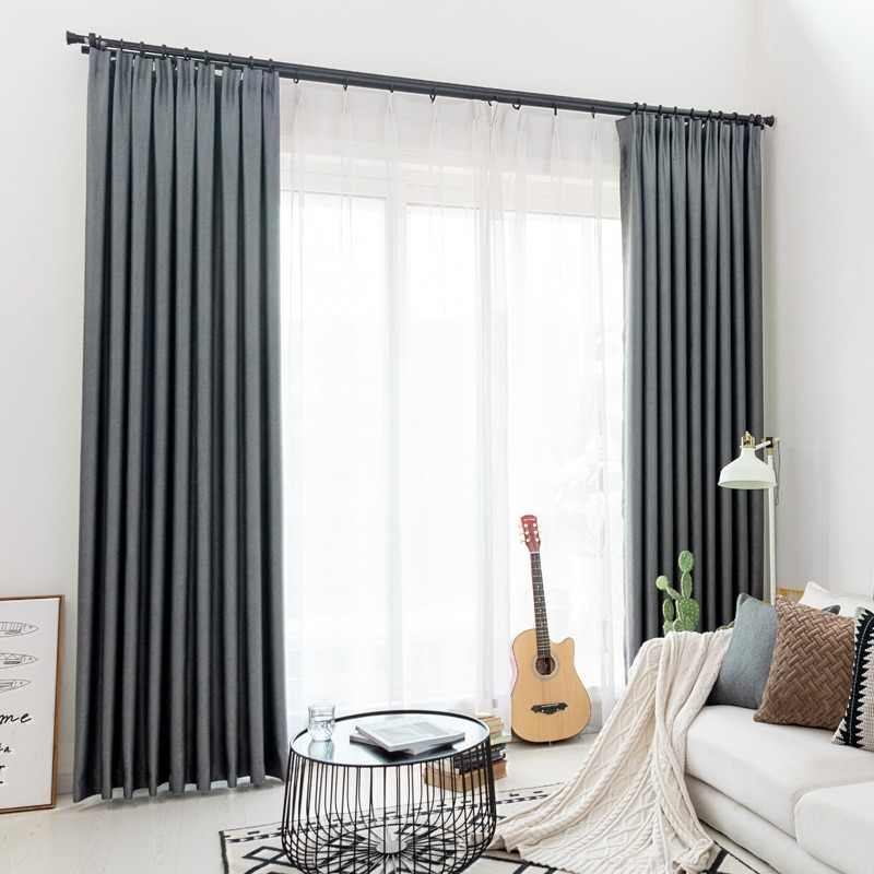 CITYINCITY Modern blackout curtains for window blinds finished drapes window blackout curtain for living room the bedroom blinds