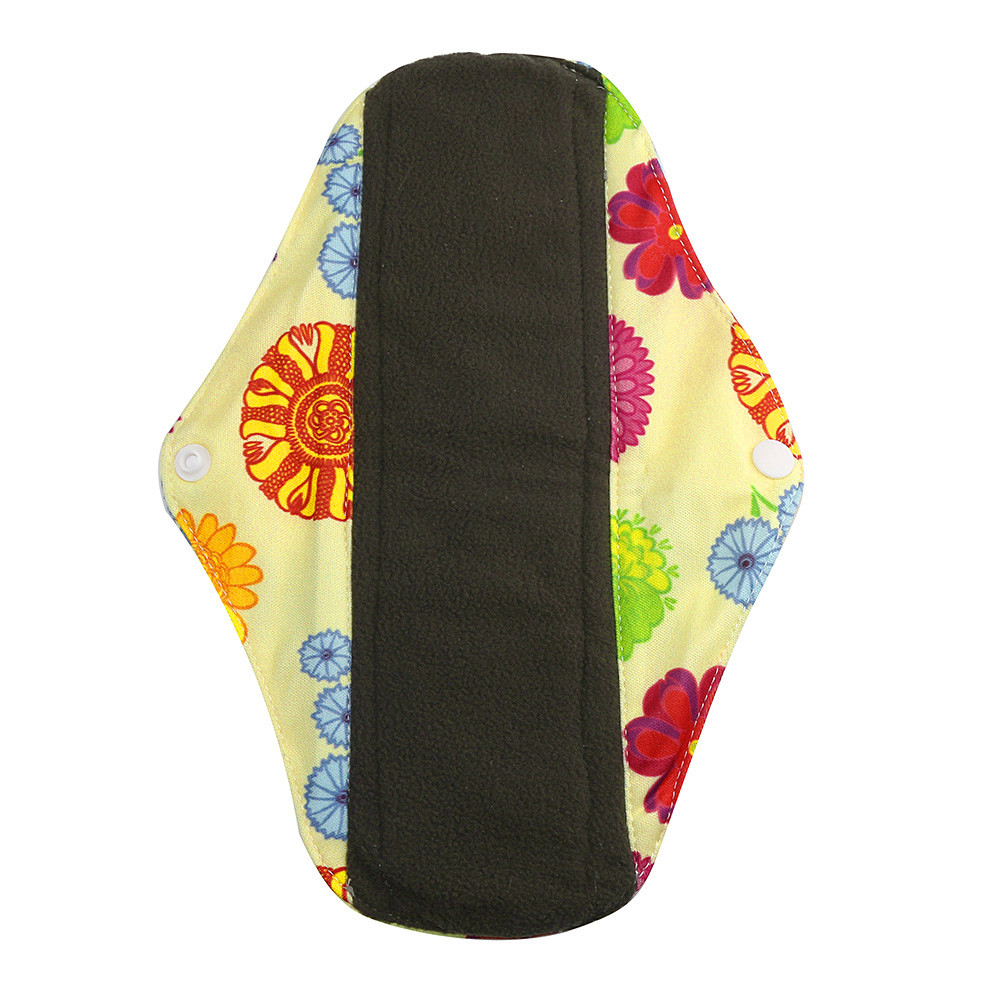 1pc New Arrival Women's Reusable Bamboo Cloth Washable Menstrual Pad Mama Sanitary Towel Pad Pretty Feminine Hygiene Product 22
