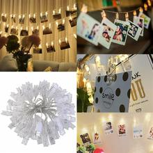 LEDMOMO 5M 40 LEDs Photo Clip String Lights USB Powerd Indoor Garland Crawling Lighting for Hanging Pictures Wedding Decoration