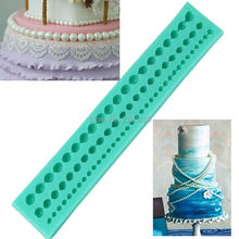 Silicone 3 Strings Of Pearl Cake Pearl Fondant Sugar Paste Bead Mold Clay Mould Decorating Random kitchen accessories(China)