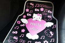 brand hello kitty cartoon girl's woman's fashion cute anti-water anti-slip universal car floor mats fit for all car models(China)