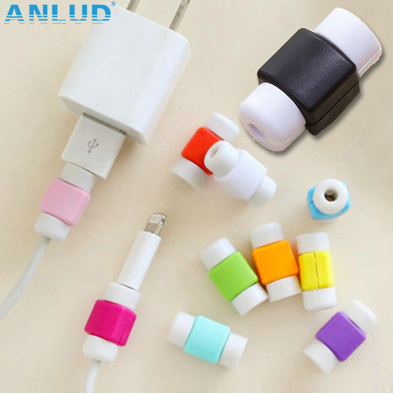 100pcs/lot Fashion USB Data Cable Protector Colorful Cover Earphone Cable protector for Iphone Android mobile phone cool part<br><br>Aliexpress