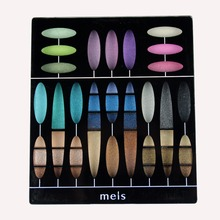 MEIS Brand Eye shadow 27 Color Eye Shadow Palette Professional Makeup Eye shadow long lasting Perfect Quality Glitter Eyeshadow(China)