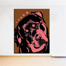 Large size Print Oil Painting Wall painting rottweiler DOGS Home Decorative Wall Art Picture For Living Room paintng No Frame(China)