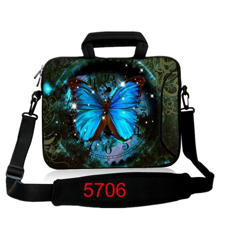 BlueButteryfly  laptop Messenger Bag neoprene notebook handle sleeve bag PC handbag 17 inch 15.6 14 13 12 10 For Ipad Asus Acer<br><br>Aliexpress