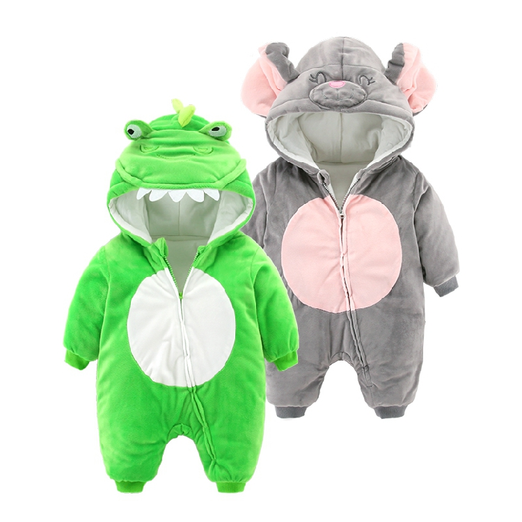 baby romper newborn climbing thick warm pajamas baby clothes<br>