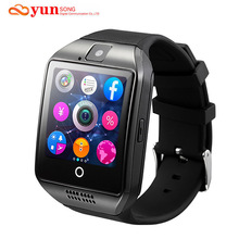 Original Q18 Bluetooth Smart Watch Support SIM GSM TF Card camera with Touch Screen For Android/IOS Mobile phone Apro DZ09 GT08