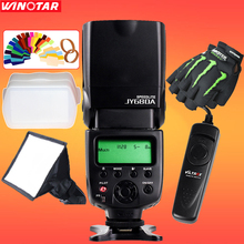 VILTROX JY-680A Universal LCD Flash Speedlight + Flash Diffuser + Shutter Release Cable + Gloves for Canon Nikon Pentax Cameras