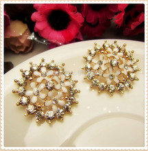 AL729111,27mm 2pcs/lot flowers rhinestone buttons,DIY hair ornaments handmade bow,Rhinestone faceplate diamond clasp(China)