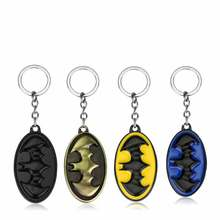 Cool Superhero Batman Keychain Men Super Hero Marvel Superman Car Key Chain Key Ring Holder Jewelry Gift Souvenirs Movie Jewelry