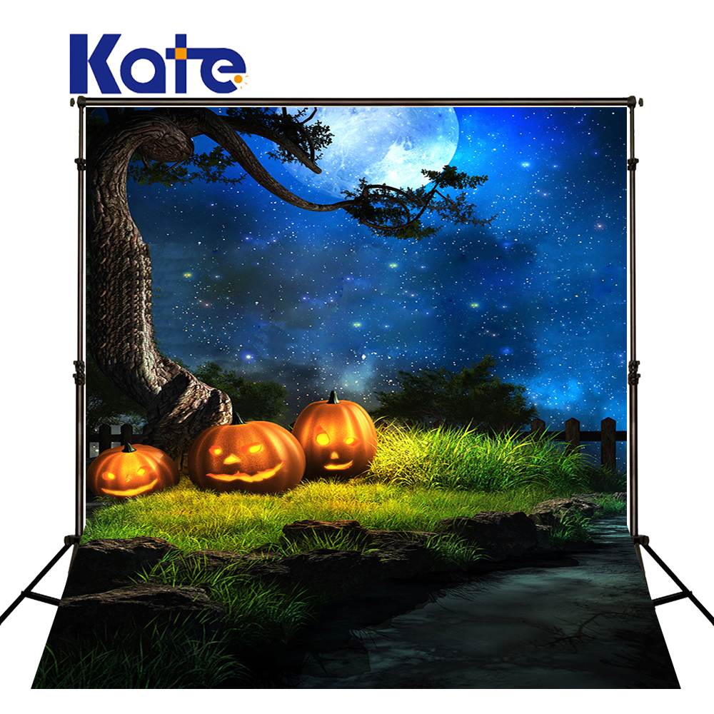 KATE Photo Background 10x10ft Halloween Pumpkin Background Forest Fairy Tale Backdrop Newborn Photography Backgrounds for Studio<br>