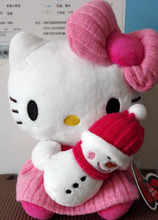 New arrival 20cm Hello Kitty Holding Snowman Sanrio Original Kawaii Hello Kitty Plush Toys Stuffed Plush Doll Birthday Gift