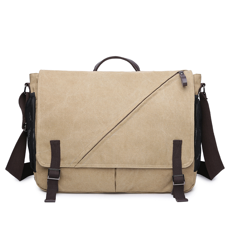 Men Canvas Crossbody Bags Military Army Men Messenger Bags Large Travel Satchel Laptop Shoulder Bags Male Vintage Business Bag<br>