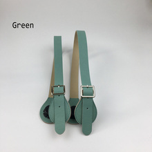 New 5 colors 1 Pair Flat Pu Faux Leather Handles straps for Classic Mini O Bag Obag handbag Silicone package accessories