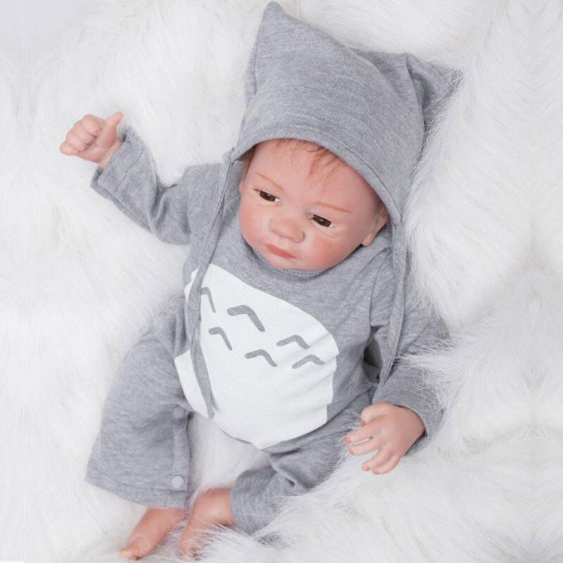 55cm BeBe Reborn Dolls 22inch Silicone Reborn Baby Doll Toys Lifelike Newborn Bonecas Reborn Juguetes Babies Toys Brinquedos<br><br>Aliexpress