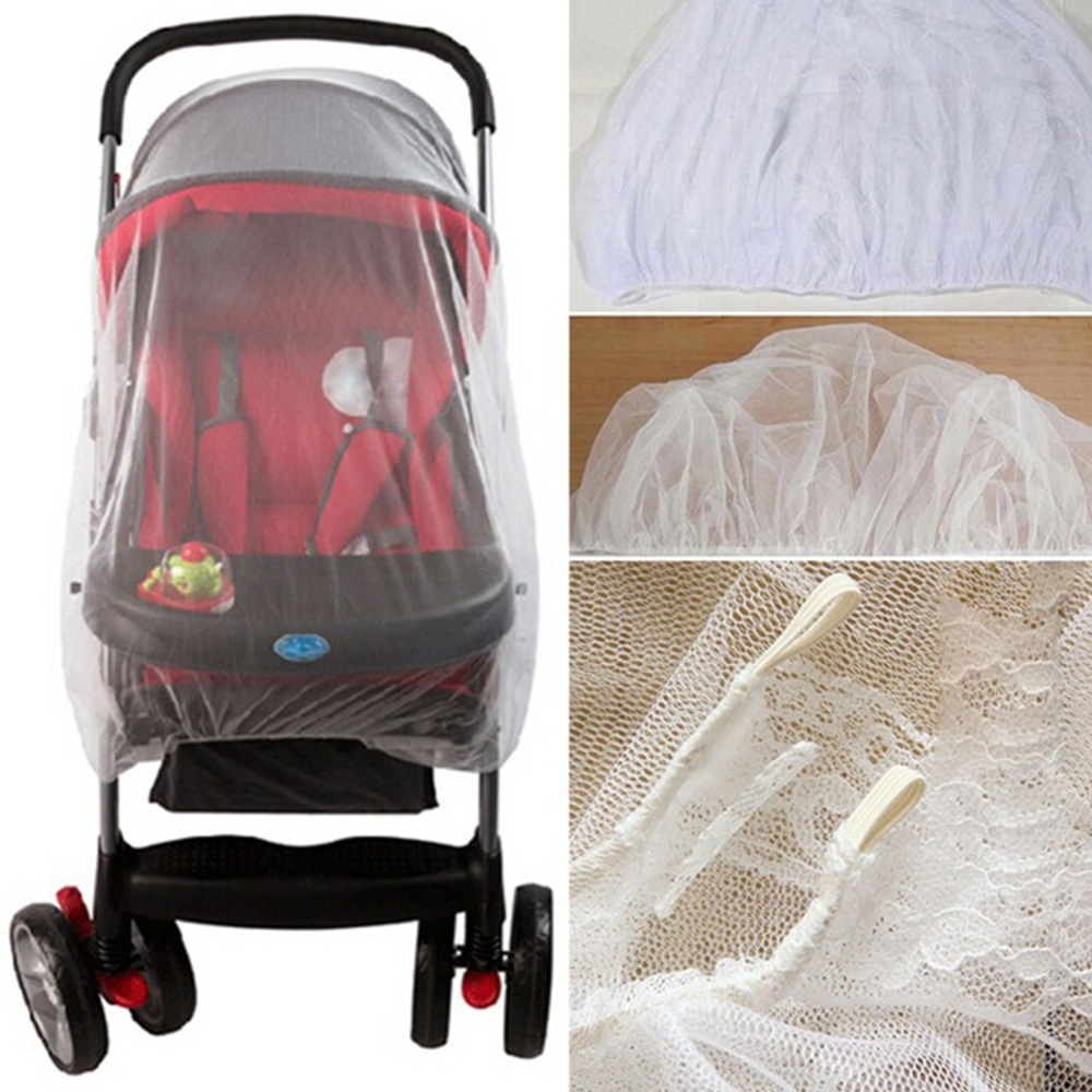 150cm Summer Baby Stroller Mosquito Net Insect Shield Safe Protection Net Outdoor Pushchair Stroller Accessories (1)
