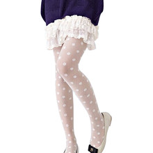 Buy 2017 New Womens Sexy Sheer Lace Tight Fashion Big Dot Pantyhose Tights Dot Slim Stockings Female Collant Stockings White Black