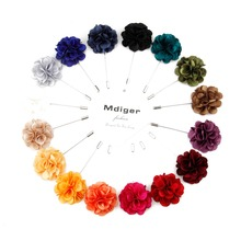 Mdige Lapel Pins Suits Handmade Flower Brooches For Wedding Party Gentlemen Cloth Pin Corsage Brooch 10 PCS/LOT(China)