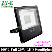 2015 New! Led Flood Outdoor Floodlight 20W LED Flood light  AC180-260V no need driver Spotlight  waterproof IP 65 freeshipping