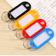 Wholesale-5000Pcs Blank Plastic Keychains Rectangle luggage tag Insert Photo Keyrings key card number-Free Shipping(China)