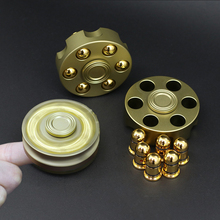 Newest Fidget Spinner Hand Spinner Pure copper spiner Pistol bullet Hand Spiner Matel with EDC Toys Hand spiner Gifts(China)