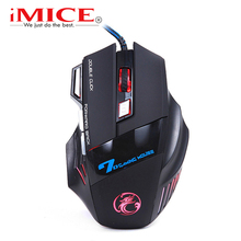 imice USB Gaming Mouse 7 Button 5500DPI LED Optical Wired Cable Computer Mouses Gamer Mice For PC Laptop Desktop X7 Game Mouse(China)