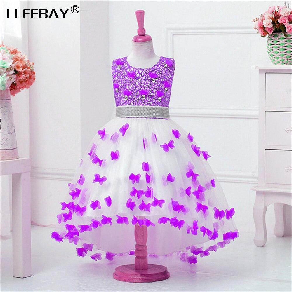 2017 Top Quality Princess Dress for Little Girl Long Dresses Sequins Ceremonies Wedding Gown Dress Flower Girl Vestido Nina Rose<br>