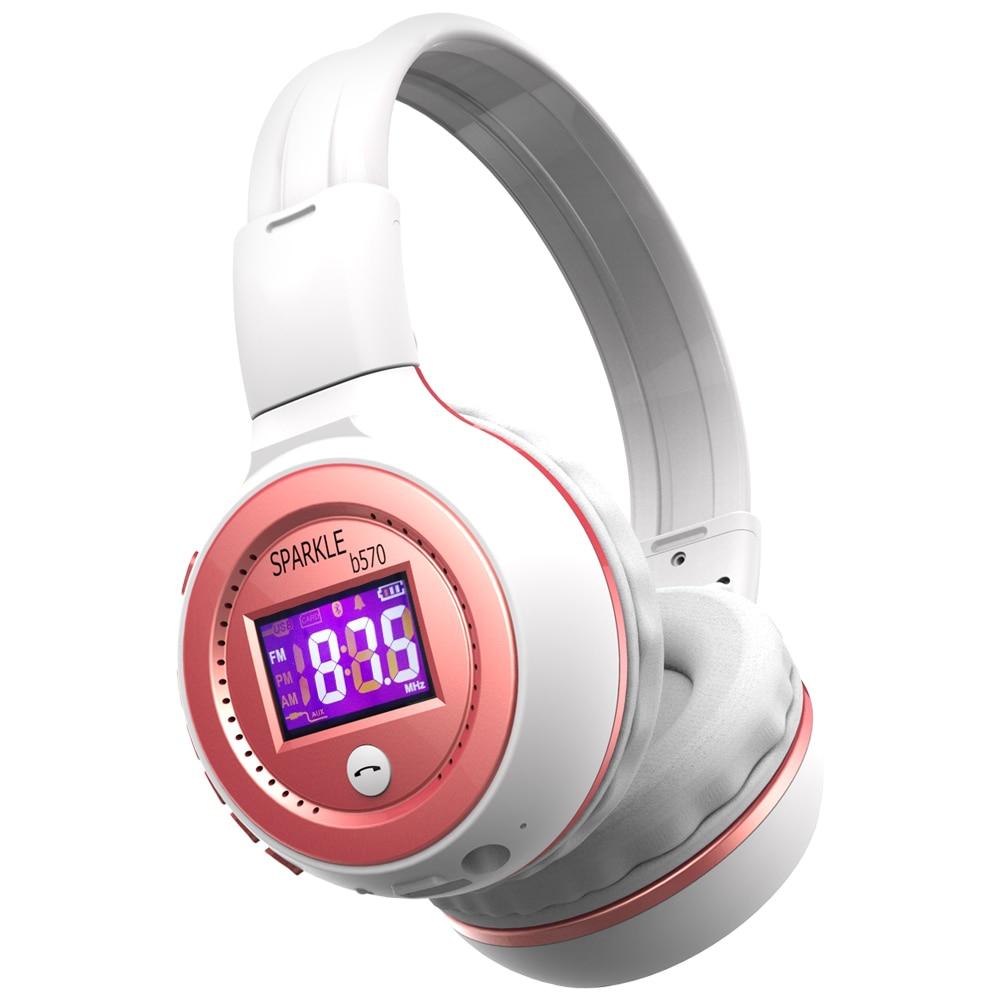Zealot B570 Earphone Headphone with LCD Screen Bluetooth Headphone Foldable Hifi Stereo Wireless Headset FM Radio TF SD Slot 1