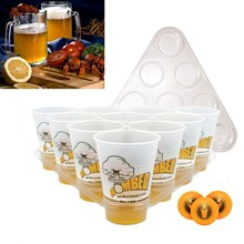 Ultimate Bombed Beer Pong Party Fun Kit 22 Cups 3 Balls For Adult Table Top Board Games Drinking Game Pub Bar BBQ Gift