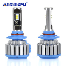 ANMINGPU Car Light H4 H7 H11 H1 H13 H3 9004 9005 9006 9007 9012 SMD LED Car Headlight Bulb Hi-Lo Beam 80W 8000LM 6000K Auto Lamp(China)