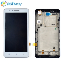 "For 5.0"" Lenovo A536 Display Touch Screen Digitizer Panel Assembly With Frame Replacement Parts For Lenovo A536 LCD Display"
