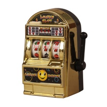 100% Brand Funny Gags Practical Jokes Children' s Slot Machine Mini Toy Lucky Jackpot For Fun Birthday Gift Kids Safe(China)