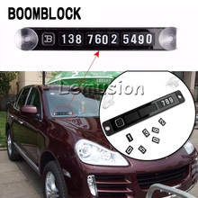 BOOMBLOCK Car Parking Card Mobilephone Stickers Bmw E46 E39 Audi A3 A6 C5 A4 B6 Mercedes W203 W211 Mini Cooper Accessories