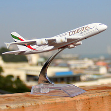 16cm Alloy Metal Air Emirates A380 Airlines Airplane Model Airbus 380 Airways Plane Model Stand Aircraft as Gifts