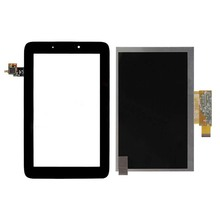 Touch Screen Digitizer Glass Sensor + LCD Display Panel Screen For Lenovo IdeaTab A2107 A2207 Free Shipping