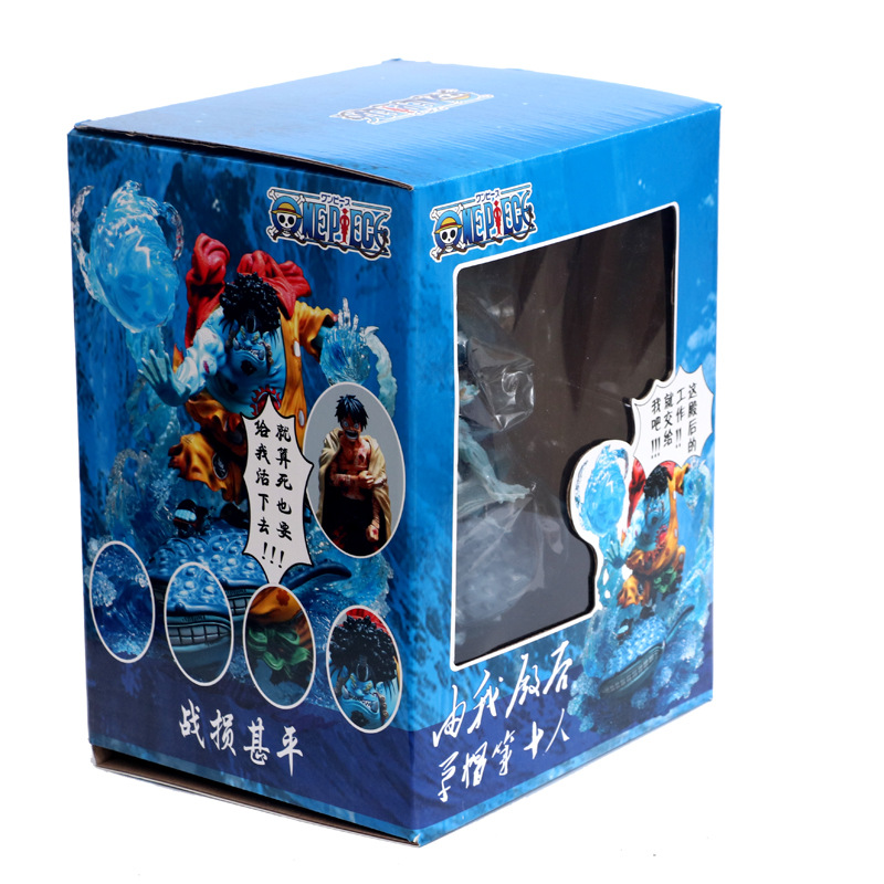 NEW hot 21cm One Piece War damage Jinbe Action figure toys doll Christmas gift no box (4)