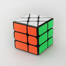 Promotion YongJun Strange-shape Magic Speed Cube White ABS Plastic Puzzles cubes Hot Wheel Abnormity Cube Kids Educational Toys(China)