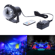 12W DC12V RGB LED DMX Stage Light Portable Waterproof Dynamic Wave Effect Stage Light& DJ with Remote Instant Lighting (US )(China)