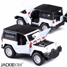 1:32 The Herdsman Jeep Alloy Diecast Car Model Pull Back Toy Car model Electronic Car For Kids Toys Gift Free S hipping(China)