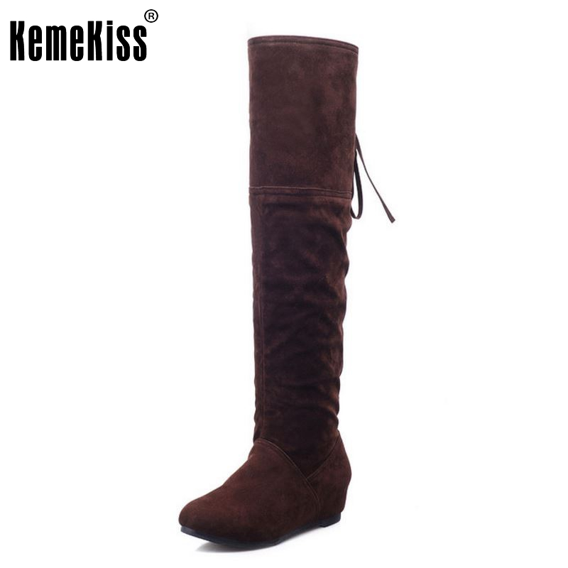 Shoes Women Boots Flats Boots Over The Knee Boots Round Toe Long Botas Fashion Knight Boot Ladies Footwear Size 34-39 <br>