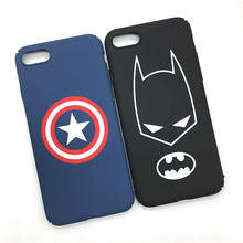 Fashion Batman Iron Man Captain America Superman Matte Plastic Back Cover for IPhone 7 plus Phone Cases Ultra Thin Shell Coque