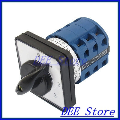 AC 660V 20A Self Locking 0-1-2-3-4-5 12 Terminals Cam Changeover Switch<br><br>Aliexpress